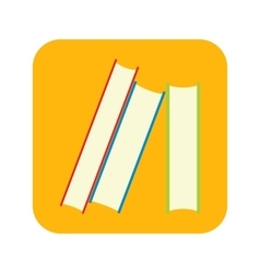 Stack of books flat icon vector image