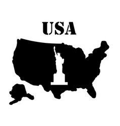 Symbol of america and maps vector