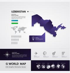 Uzbekistan map vector