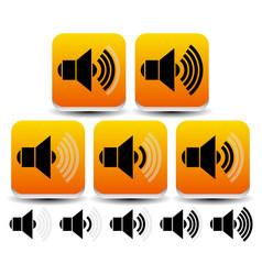 volume sound level symbols - icons vector image
