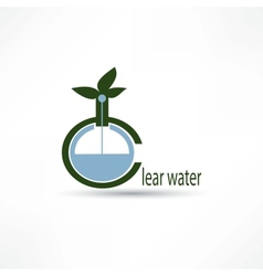 Water icon vector