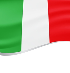 waving flag italy background vector image