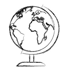 world planet education icon vector image