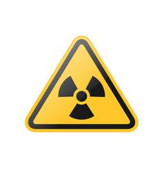 yellow radiation warning sign vector image