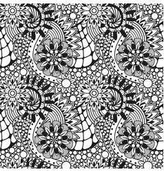 zentangle seamless pattern vector image