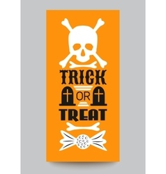 Happy Halloween Party card Typography letters vector image vector image