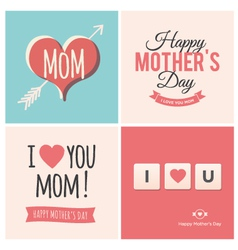 Happy mothers day cards vector image vector image