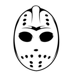 hockey mask icon icon cartoon vector image vector image