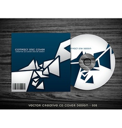 stylish cd cover design vector image