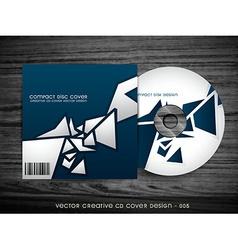 Stylish cd cover design vector