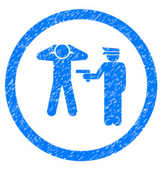 Arrest rounded grainy icon vector