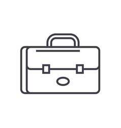 business case portfolio line icon sign vector image vector image