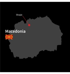 Detailed map of Macedonia and capital city Skopje vector image vector image