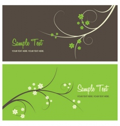 floral card background vector image vector image