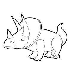 triceratops icon outline vector image vector image