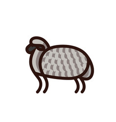 black and white drawing of sheep vector image vector image