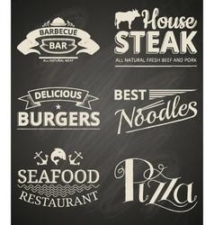 Food labels vector image