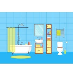 Interior Classic Bathroom with Furniture vector image