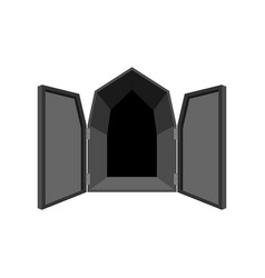 Open doors isolated door to hell unblock black vector