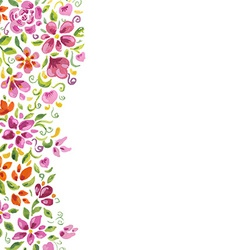 Watercolor Flowers Card vector image vector image
