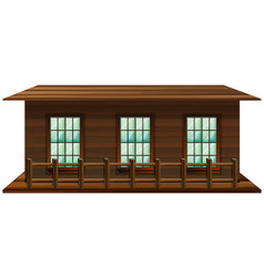 house made of wood vector image