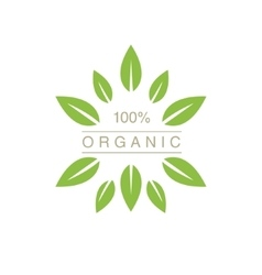 Organic Product Logo With Spiky Leaves vector image