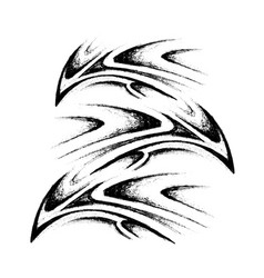 tribal tattoo sketch vector image vector image