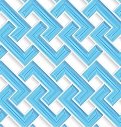 White 3D with colors blue striped brackets vector image vector image