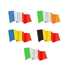 A flags of europe countries vector