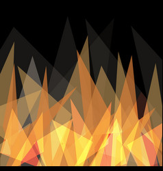abstract flame triangle geometric design vector image