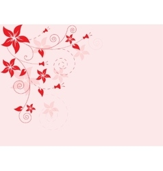 Abstract floral background with flowers vector