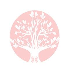 Abstract pink art tree closeup vector