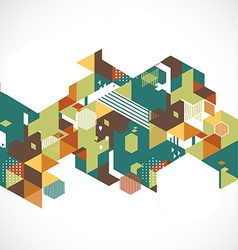 Abstract retro and creative with geometric hexagon vector image