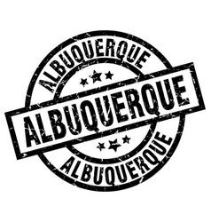 albuquerque black round grunge stamp vector image