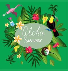 aloha summer vector image