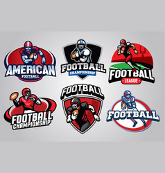 American football badge design set vector