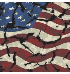 American grunge flag Grunge effect can be cleaned vector image
