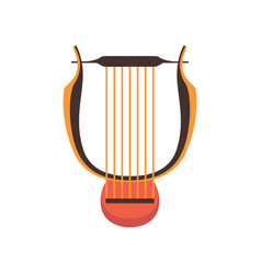 ancient lyre musical instrument vector image
