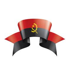 Angola flag on a white vector