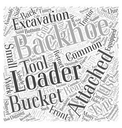 Backhoe Loader Word Cloud Concept vector image