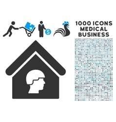 Barrack Building Icon with 1000 Medical Business vector image