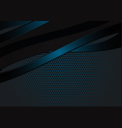 black and blue geometric wave abstract background vector image