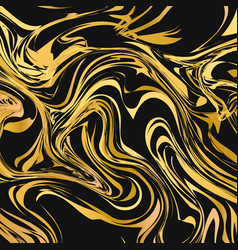 Black and gold liquid flow effect background vector