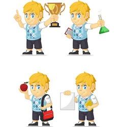 Blonde Rich Boy Customizable Mascot 2 vector