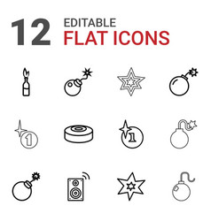 Boom icons vector