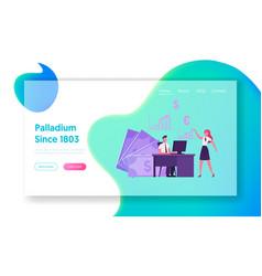 broker service pc application landing page vector image