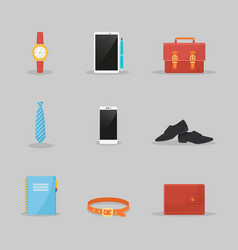 businessman clothes and items set vector image