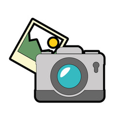 camera photographic with pictures vector image