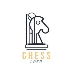 Chess logo design element for tournament vector