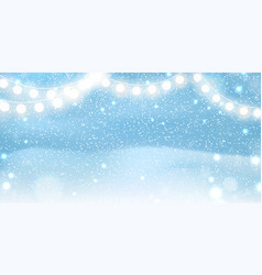 christmas background with glittering sparkling vector image